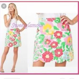 Lilly Pulitzer floral print cotton a-line skirt 8